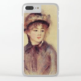 Auguste Renoir - Bust Of A Woman Wearing A Hat Clear iPhone Case