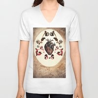 valentine V-neck T-shirts featuring Valentine by Meagan Meli