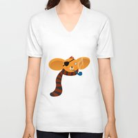 koala V-neck T-shirts featuring Koala by Volkan Dalyan