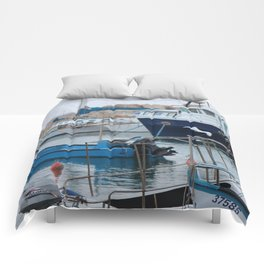 Docked Boats-Color Comforters