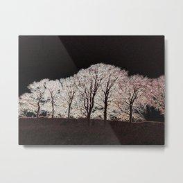 Glowing Trees Metal Print