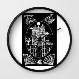 Ominous Victorian House Invert Wall Clock