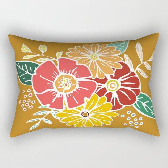 Abstract #369 Flower Power #9 Rectangular Pillow