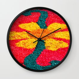 Flower carpets Wall Clock
