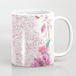 Rose Gold Mandala Garden on Marble Coffee Mug