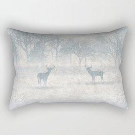 Winter scenery & deers Rectangular Pillow