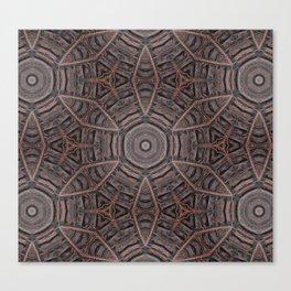 Leather Mandala Canvas Print