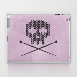 Knitted Skull (Black on Pink) Laptop & iPad Skin
