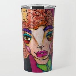 JennyMannoArt Colored Illustration/Ruby Travel Mug