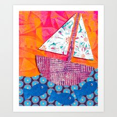 Sailing the Sea Art Print