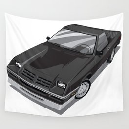 Rampage Black Wall Tapestry