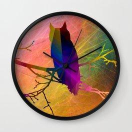 Bird on branch 3 Wall Clock