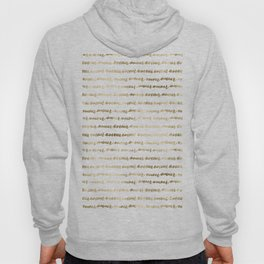 Amour French Love Script Gold Typography Pattern 3 Hoody