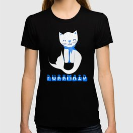 Cute Funny Purring Mermaid Cat Purrmaid Design T-shirt