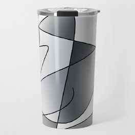 ABSTRACT CURVES #2 (Grays) Travel Mug