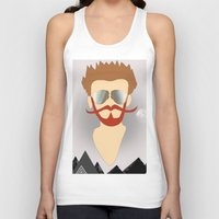 the dude Tank Tops featuring Dude by DM Davis
