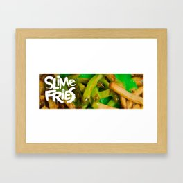 Slime Fries v2 Framed Art Print
