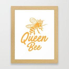 Queen bee, God Save The Queen, Bee Lover Gift, Beekeeper Gift Framed Art Print