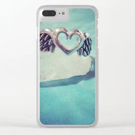 Healing Wings of Forgiveness Clear iPhone Case