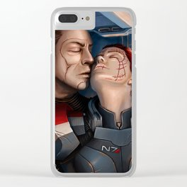 Mass Effect - A moment alone. Clear iPhone Case