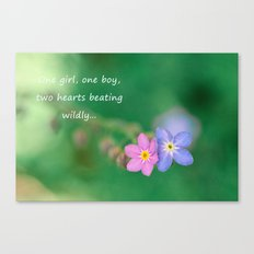 Two Hearts Beating Canvas Print