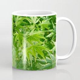 Keep calm and refresh with green momiji leaves Coffee Mug