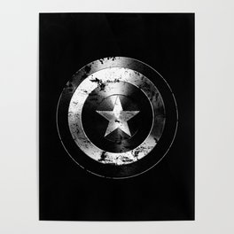 Captain Shield-USA-Star-Eroded Poster