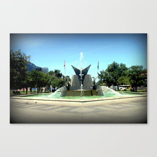 Victoria Square Fountain - Adelaide Canvas Print
