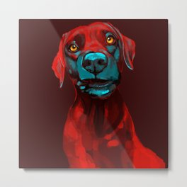 The Dogs: Rufus Metal Print