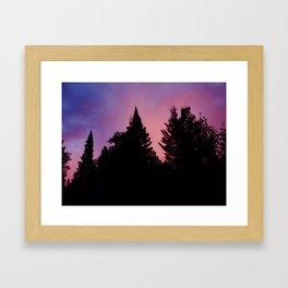 Sunset over the Fern Lake Trail, RMNP Framed Art Print