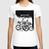 bicycles T-shirts featuring Bicycles by Addison Karl