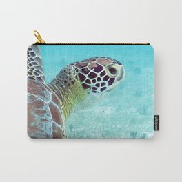 Watercolor Turtle, Green Turtle 17, St John, USVI Carry-All Pouch