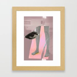 Yafo in Millenial Pink Framed Art Print