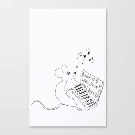 mouse pianist Canvas Print