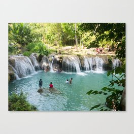 Cambugahay Falls, Siquijor, Philippines Canvas Print