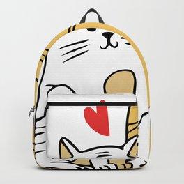 Cartoon Cat Family Backpack