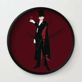 Tuxedo Mask (Red) Wall Clock