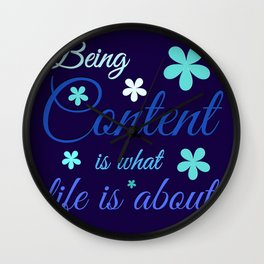 Being Content Wall Clock