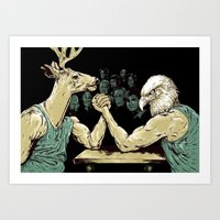 The Wrestle Art Print
