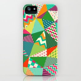 Patch Work Pattern. iPhone Case