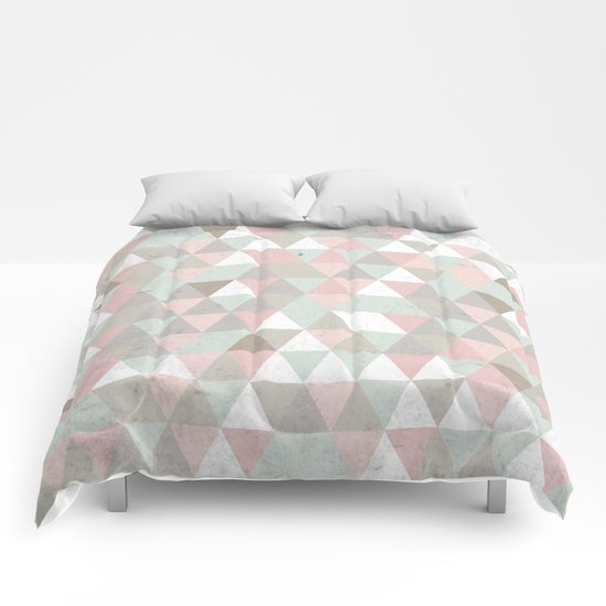 Shabby chic triangles Comforters