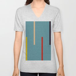 Abstract Classic Stripes Mirian Unisex V-Neck
