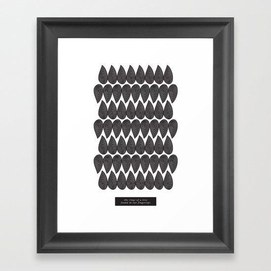 Our Fingertips Framed Art Print