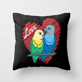 Budgie Love Bird lover Pet ornitology Throw Pillow