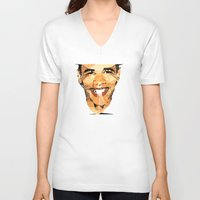 obama V-neck T-shirts featuring ICONS: Obama by LeeandPeoples