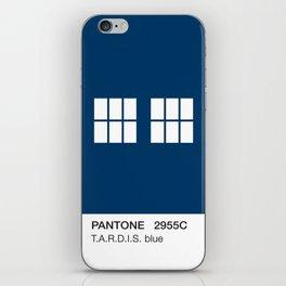 TARDIS Blue Pantone iPhone Skin
