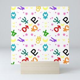 sailor moon vuiton inspired pattern Mini Art Print