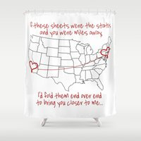 time low Shower Curtains featuring If These Sheets Were States All Time Low Lyrics by andrialou