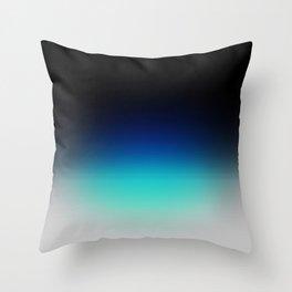 Blue Gray Black Ombre Throw Pillow