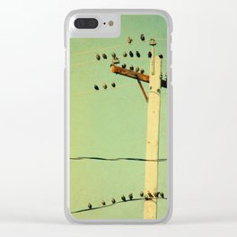 Retro Tweeters Clear iPhone Case